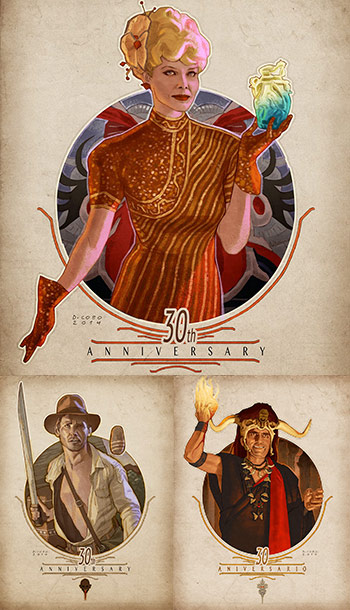 ilustración de Diego Cobo por el 30 aniversario Templo Maldito