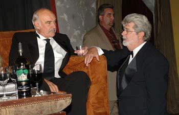 Sean Connery y George Lucas en los premios AFI