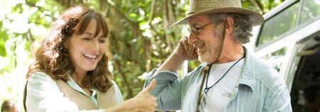 Karen Allen y Steven Spielberg