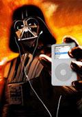 Darth Vader con un iPod
